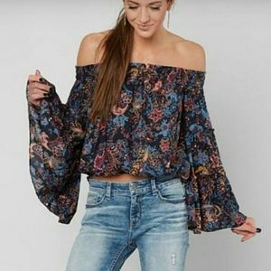 Free People Free Spirit Off the Shoulder Blouse XS